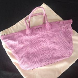 Charles Jourdan Paris leather tote handbag